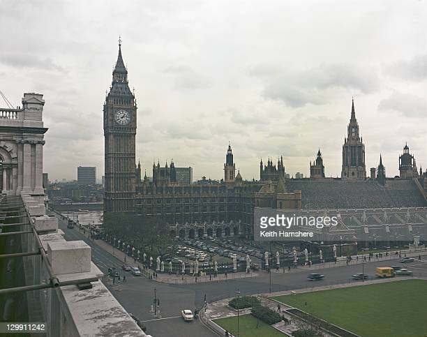 A view looking south towards Big Ben and the Houses of Parliament London 1968