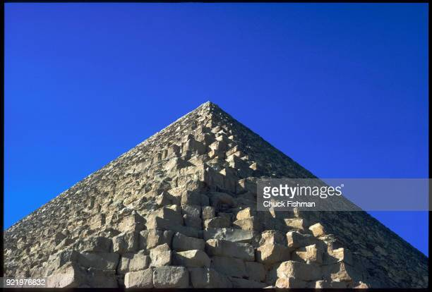 View looking up at the Great Pyramid Giza Egypt 1980