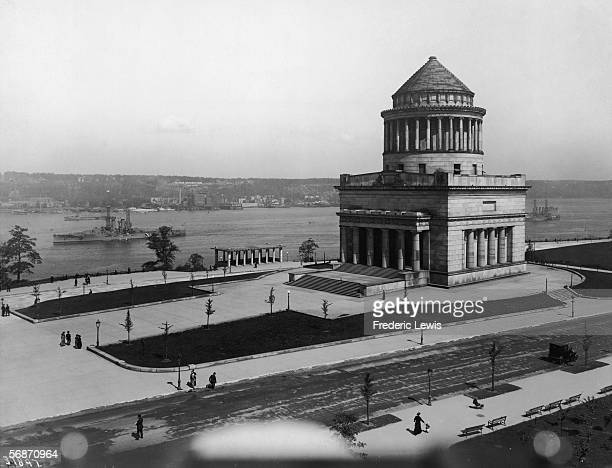 View looking west of General Grant National Memorial in Riverside Park near the intersection of Riverside Drive and 122nd Street New York New York...