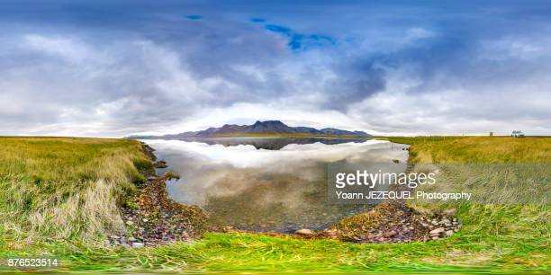 360° View nature scenery in Iceland