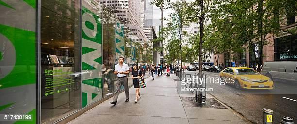 view near museum of modern art (moma) - new york city museum of modern art stock-fotos und bilder