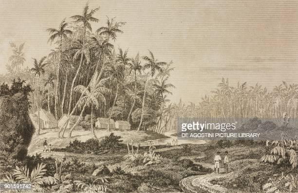 View near Point de Galle Ceylon Sri Lanka engraving by Lemaitre from Japon IndoChine Empire Birman Sima Annam Peninsule Malaise etc Ceylan by...