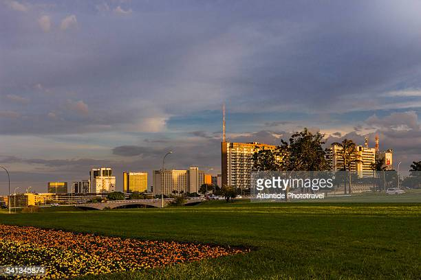 view near the brasilia tv tower - distrito federal brasilia stock pictures, royalty-free photos & images
