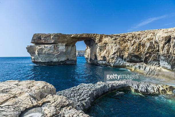 View near the natural arch called Azure Window
