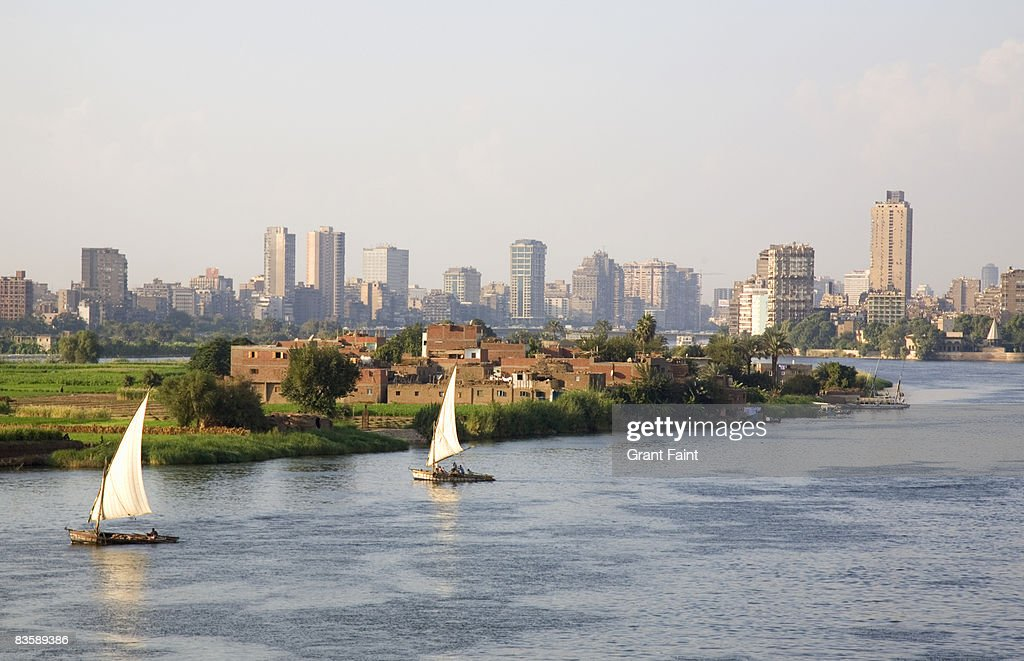 view nile river at cairo : Stock Photo