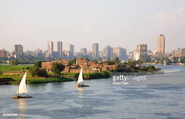 view nile river at cairo - cairo stock pictures, royalty-free photos & images