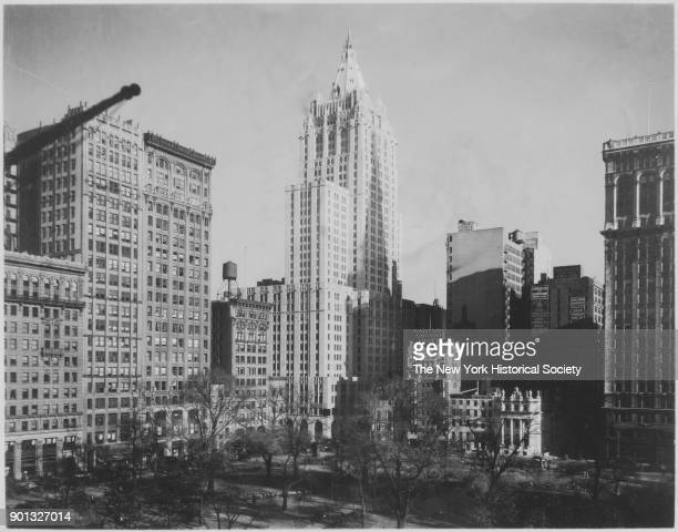 View northeast towards New York Life Insurance Company 51 Madison Avenue from Madison Square Park New York New York 1929 Cass Gilbert architect