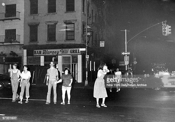 View of 34th St in New York City during power outage which caused 1977 blackout power failure