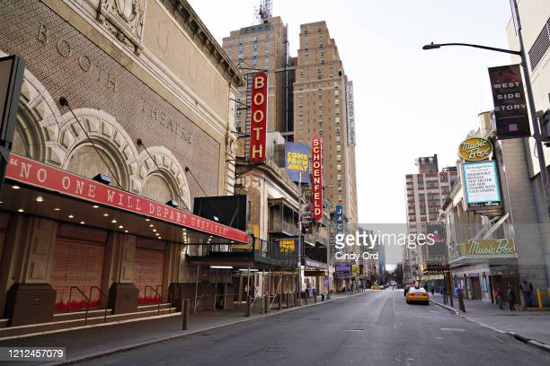 A view of 45th Street as the coronavirus continues to spread across the United States on March 14 2020 in New York City The World Health Organization...