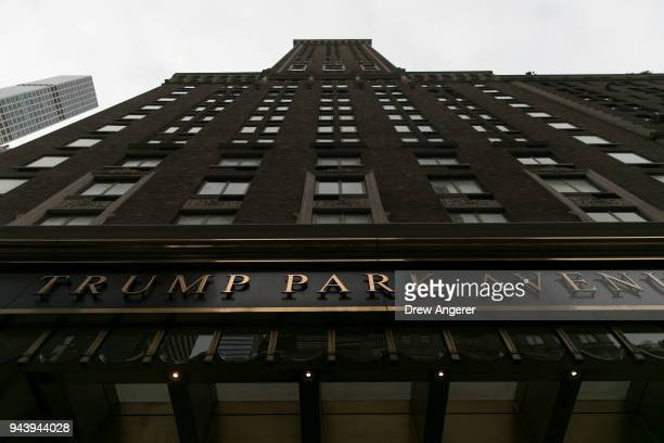 A view of 502 Park Avenue where FBI officials reportedly raided the residence of Michael Cohen longtime personal lawyer for President Donald Trump in...