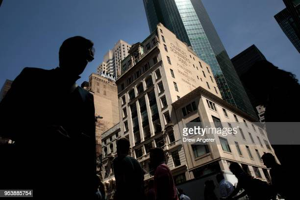 View of 597 5th Ave, where the New York City office of Cambridge Analytica is on the 7th floor, May 2, 2018 in New York City. The data firm announced...