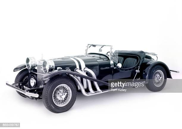 View of a 1968 Excalibur Series 1 SS Roadster against a white background California 2000 This image has been digitally manipulated