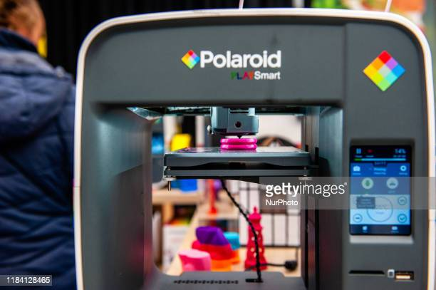 A view of a 3D printer by Polaroid during the Bright Day Festival in Amsterdam on November 23rd 2019