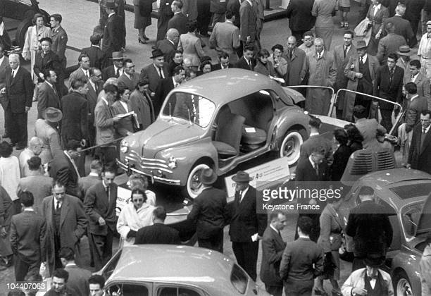 A view of a 4 CV by RENAULT at Paris Car Show