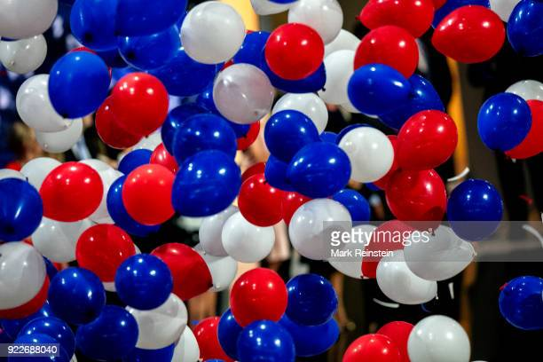 View of a balloon drop at the conclusion of the Republican National Convention at the Quicken Loans Arena Cleveland Ohio July 21 2016