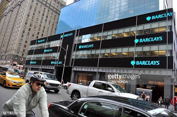 View of a Barclays Capital office on June 26 2012 in New York AFP PHOTO/Stan HONDA