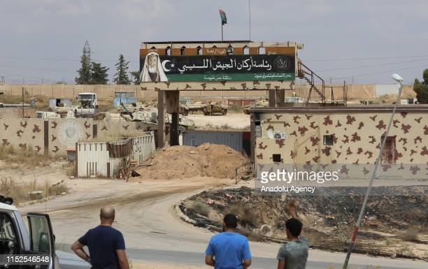 A view of a base with a strategic significance used by Khalifa Haftar units after being taken under control by Libyas UNrecognized government's armed...