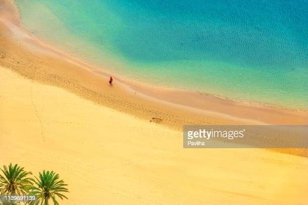 view of a beautiful beach aerial view,tenerife,spain - grand canary stock pictures, royalty-free photos & images