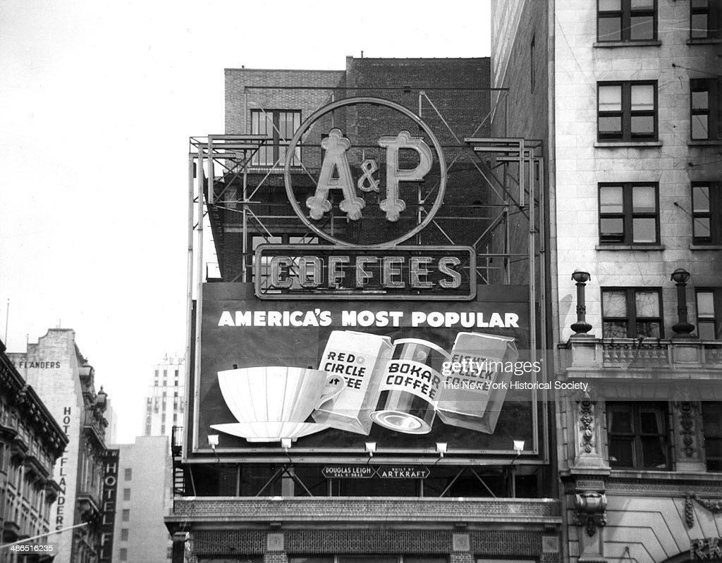A&P Coffees Billboard 'America's Most Popular' : News Photo