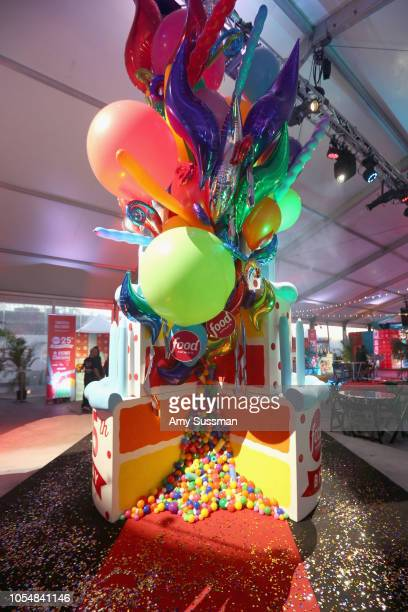 A view of a birthday cake installation at Food Network's 25th Birthday Party Celebration at the 11th annual New York City Wine Food Festival at Pier...