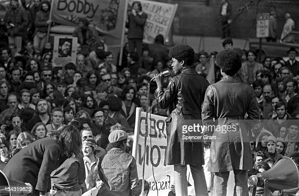 View of a Black Panther Party rally held at the Post Office Square in Boston 1970