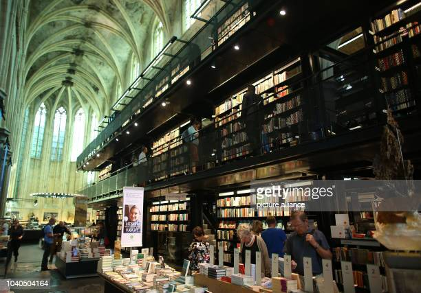 View of a book store in a former church in Maastricht, The Netherlands, 04 September 2013. Cultural workers currently present themselves to a jury...