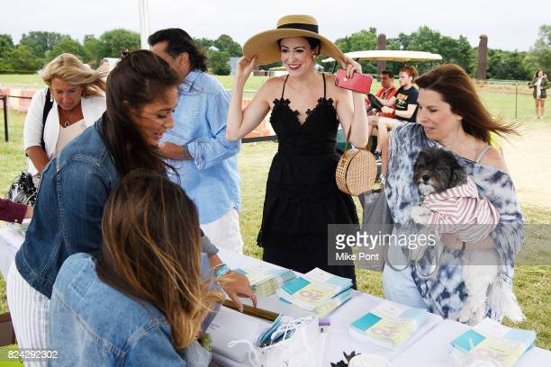 View of a booth during OCRFA's 20th Annual Super Saturday to Benefit Ovarian Cancer on July 29 2017 in Watermill New York