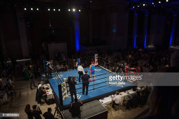 A view of a boxing ring at the All Hands and Hearts Smart Response Third Annual Fight For Education gala at Cipriani Wall Street on February 15 2018...