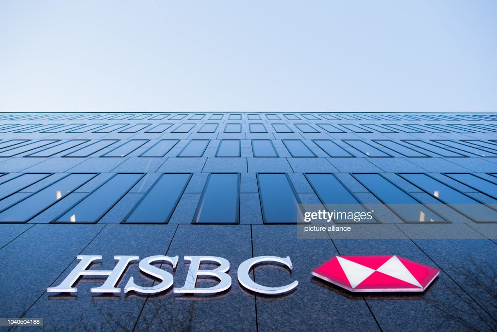 View of a branch of the HSBC bank, photographed on Koenigsallee in