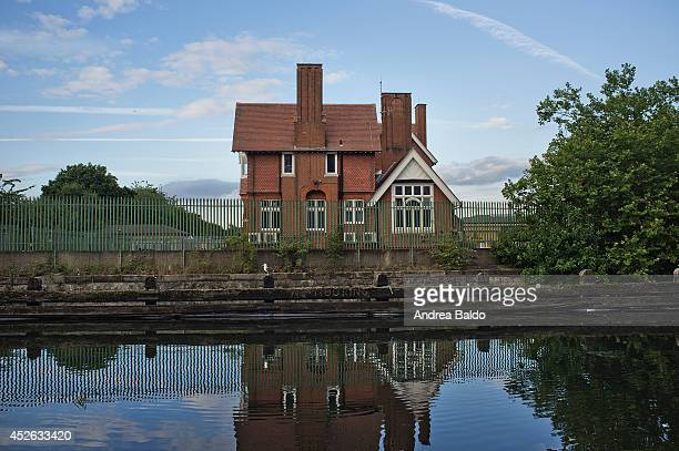 A view of a building in Lea Bridge by the Lea River East London
