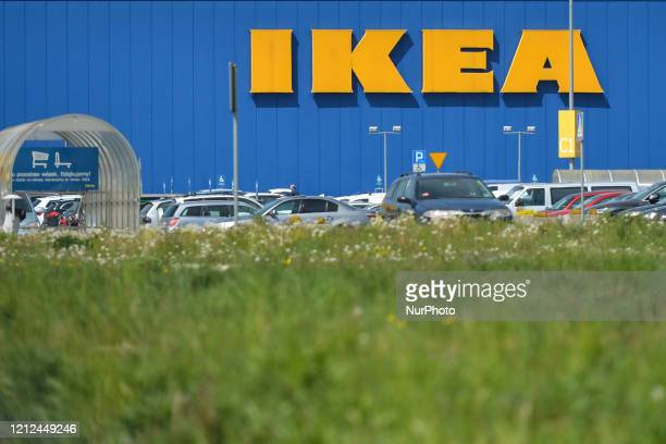 View of a busy parking lot outside IKEA shop in Krakow. Since Monday May 4th, the second stage of defrosting the Polish economy and loosening of...