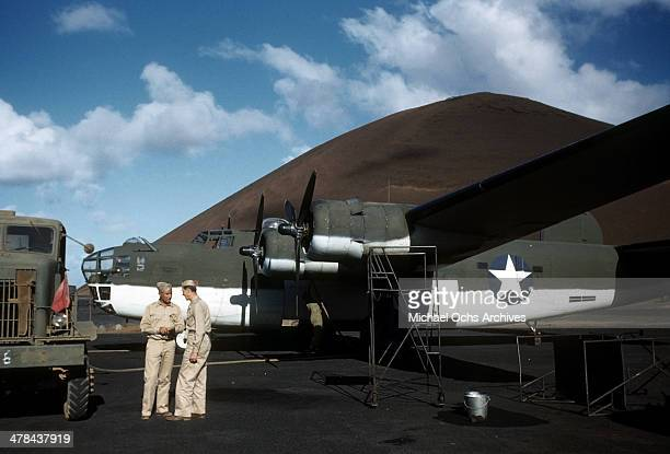 A view of a C87 Liberator Express Transport plane at the Parnamirim airport at the US Army and Air Force base in Natal Brazil