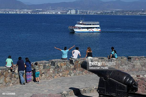 View of a canyon at Cerro del Carmen on December 11th 2014 in Coquimbo Chile Coquimbo is a city that is part of a conurbation with La Serena La...