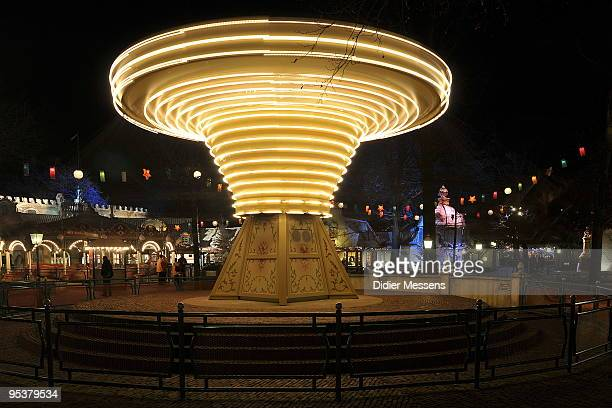 A view of a carrousel at Efteling theme park on December 25 2009 in Kaatsheuvel Netherlands