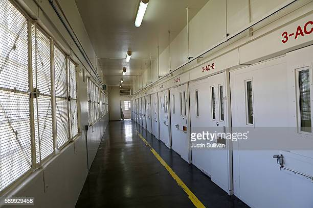 A view of a cell block at San Quentin State Prison's death row adjustment center on August 15 2016 in San Quentin California San Quentin State Prison...