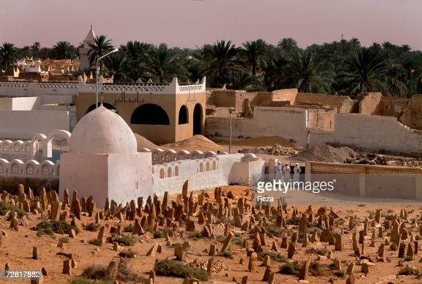 A view of a cemetery April 2000 in Ghadames Libya