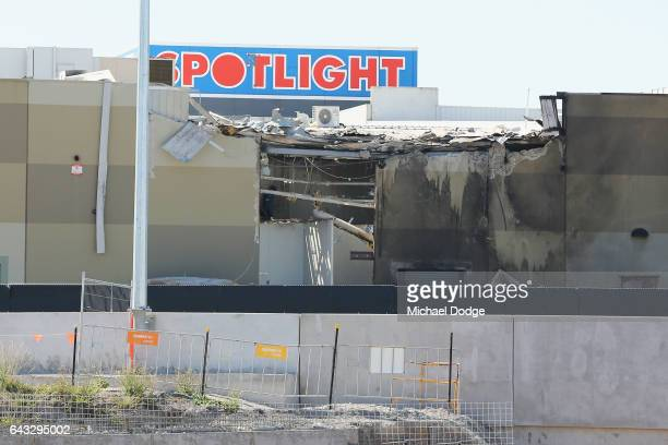 A view of a charter plane crash scene is visible from the Tullamarine Freeway on February 21 2017 in Melbourne Australia Five people were killed...