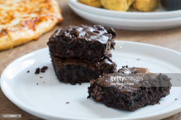 A view of a chocolate brownie at Pizza Hut on June 29 2018 in Shreveport Louisiana