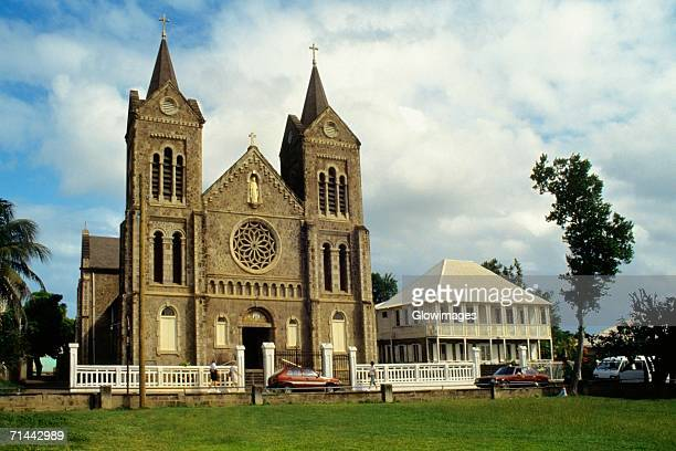 view of a church, st. kitts, leeward islands, caribbean. - st. kitts stock photos and pictures