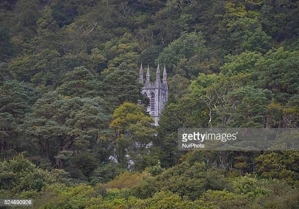 A view of a Church tower located near Kylemore Abbey in Western Connemara area Connemara County Galway Ireland Photo Artur Widak /NurPhoto