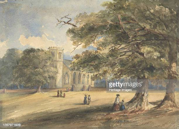 View of a Churchyard, Southborough, Kent, 1837. Artist Anon.