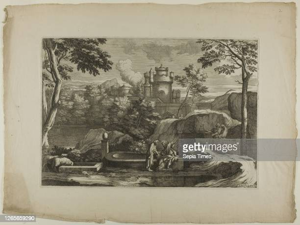 View of a City , 17th century, Sébastien Bourdon, French, 1616-1671, France, Etching on ivory laid paper, 303 × 440 mm , 442 × 590 mm .