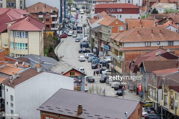 View of a city district in Pristina on March 30 2017 in Pristina Kosovo