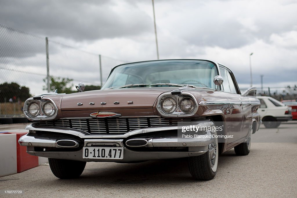 A view of a classic car at the Jarama Circuit on June 9, 2013 in Madrid, Spain. The Jarama Vintage Festival seeks to revive the 1960s, 70s and 80s attracting classic cars and motorbikes against a background of public orientated activities and shows.