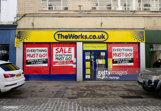 View of a closed retail outlet on January 5, 2021 in Falmouth, United Kingdom. The British Prime Minister made a national television address on...