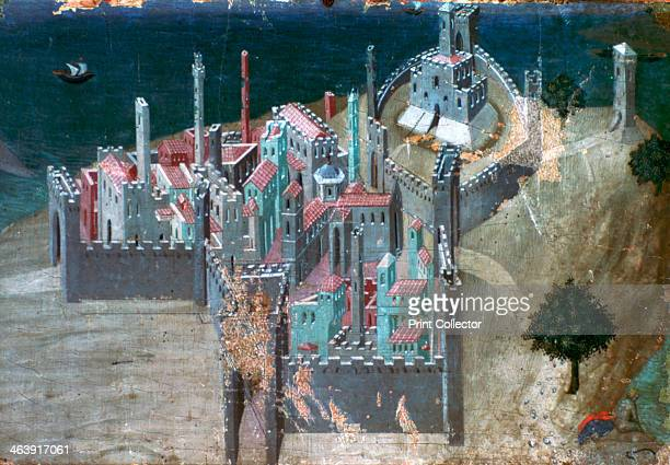 'View of a Coastal City' c13001348 Found in the collection of the Pinacoteca Nazionale Siena Italy