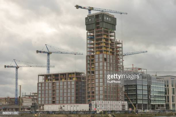A view of a construction site in Dublin's Docklands On Wednesday 25 October 2017 in Dublin Ireland