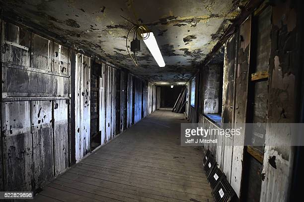 A view of a corridor in the Glasgow School Art announced major plans for its campus on Garnethill on April 21 2016 in Glasgow Scotland Damaged by...