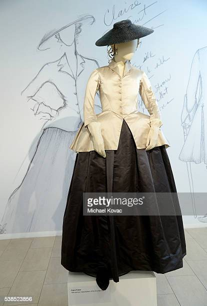"""View of a costume from """"Outlander"""" on display at The Paley Center for Media presents The Artistry of """"Outlander"""" at The Paley Center for Media on..."""