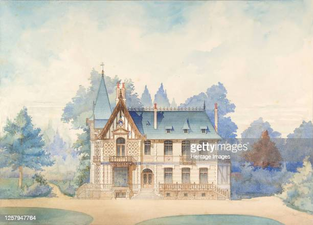 View of a Country House 1898 Artist Anon
